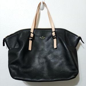 Kate Spade Waverly Street Leather Black & Tan Tote